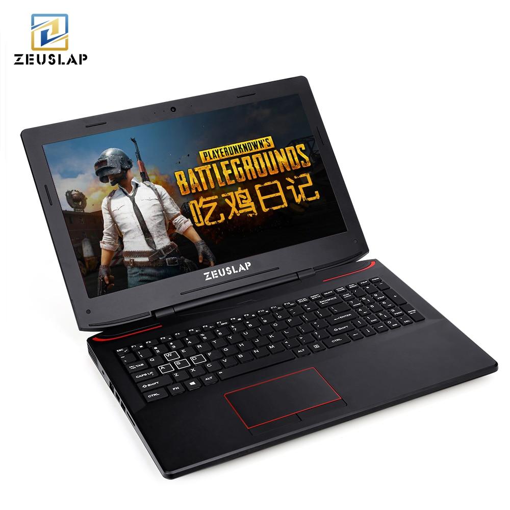Zeuclaque 15.6 pouces intel i7-7700HQ 6 gb carte vidéo GTX 1060 deux DDR4L deux ssd un hdd exécuter rapide ordinateur portable de jeu ordinateur portable
