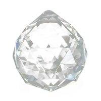 EWS 10pcs Crystal Glass Lamp Chandelier Prisms Party Decor Hanging Drop Pendant 40mm