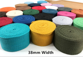 38mm Wide polyester/cotton thick plain canvas belt webbing Backpack strap luggage accessories bag making sewing DIY craft - discount item  12% OFF Arts,Crafts & Sewing