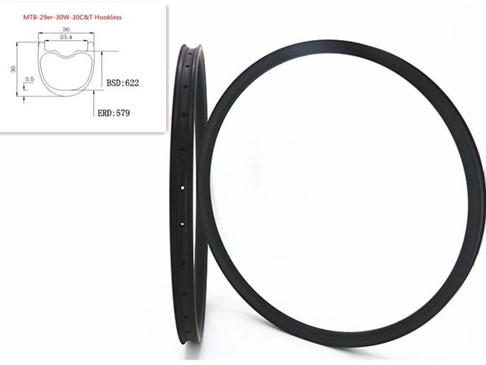 carbon mtb rims 29er mountain 3K UD 12k rims carbon bicycle rim mtb hookless tubeless 29er 30mm width 14 28 32 стоимость