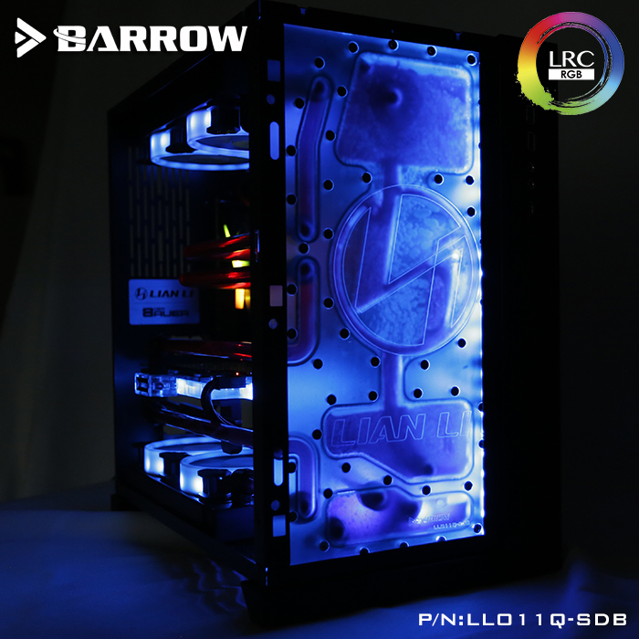 Barrow Acrylic Board as Water Channel use for LIAN LI O11 Dynamic Computer Case for Both CPU and <font><b>GPU</b></font> Block <font><b>RGB</b></font> 5V 3PIN Waterway image