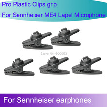 5pcs Spare Replaceable Plastic Clip for Sennheiser ME4  Lapel Lavalier microphone anx CX earphones 1mm 1.5mm
