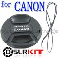 62mm Centro Pitada Snap-on Lens Cap Frente para CANON Lente