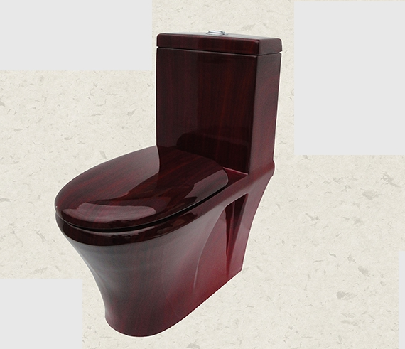 Siphon Jet Flushing Closestool Household Hotel Bed Wood
