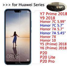 9H Tempered Glass For Huawei P20 Lite Pro Screen Protector for Honor 10 7X 7C 7A Pro Y5 Y6 Y7 Prime Y9 2018 Protective film Glas(China)