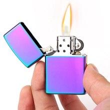 Модная простая керосиновая Зажигалка для сигарет, бензин может быть заполнен ядром бензина, флип Топ-бренд ZORRO гарантия качества