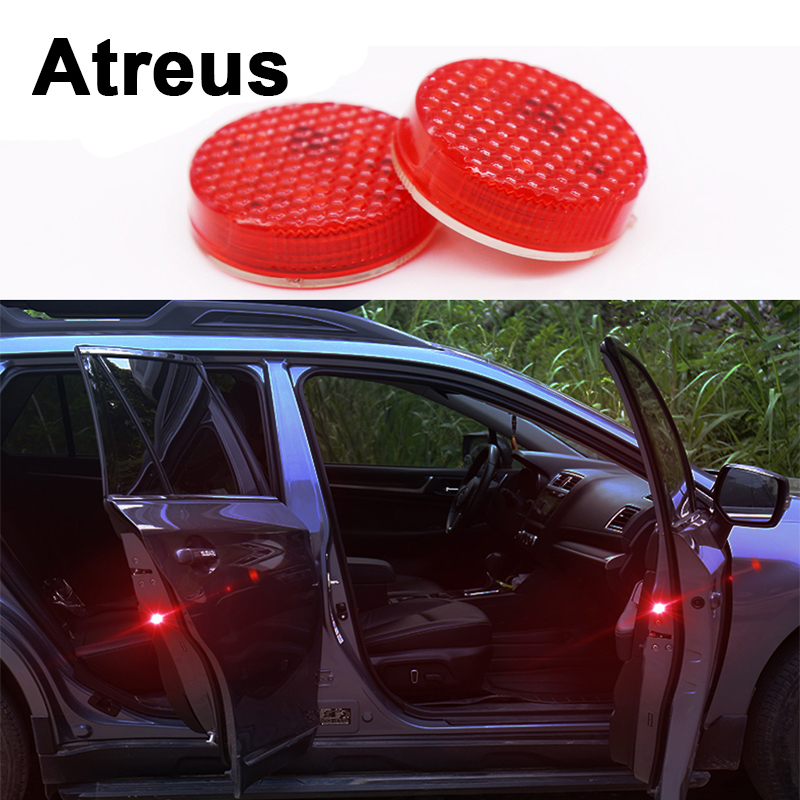 Atreus2pc Car Door warning signal crash strobe lights LED For Lexus Honda Civic Opel astra h j Mazda 3 6 Kia Rio Ceed Volvo Lada