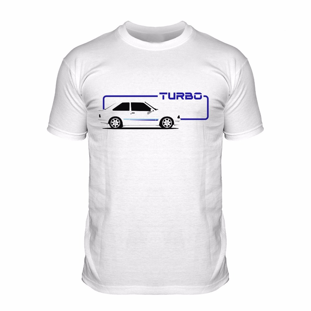 Fashion 2018 Summer Mens Casual Top Quality T Shirts Men O Neck Escort Turbo White Car Customize T Shirts