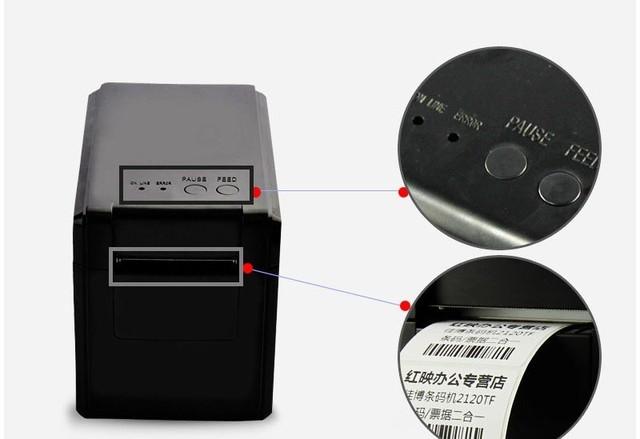 Gp-2120t código de barras térmica y impresora de etiquetas para el supermercado y proveedor puede imprimir recibos impressora multifuncional