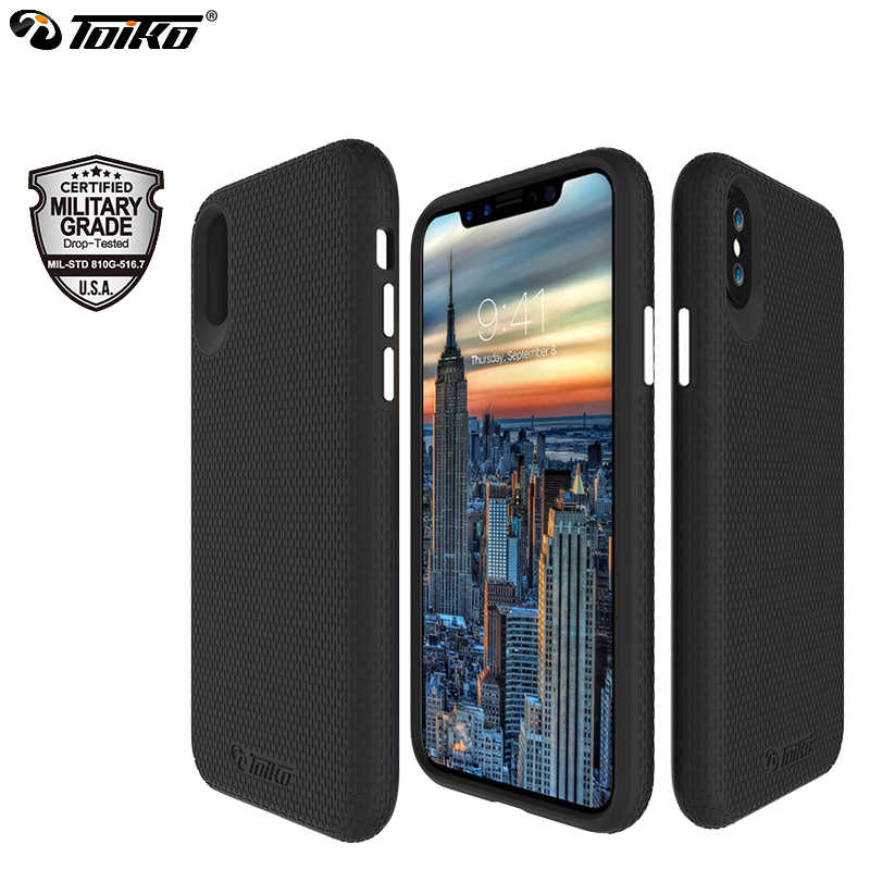 TOIKO X Guard 2 in 1 Hybrid Cases voor iPhone X XS MAX XR Militaire Grade Drop Bescherming Hard PC zachte TPU Shockproof Back Covers