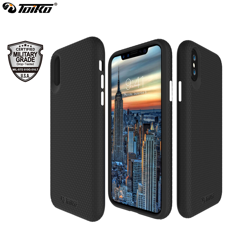 san francisco 7442d 2774a US $8.84 47% OFF|TOIKO X Guard 2 in 1 Hybrid Cases for iPhone X XS MAX XR  Military Grade Drop Protection Hard PC Soft TPU Shockproof Back Covers-in  ...