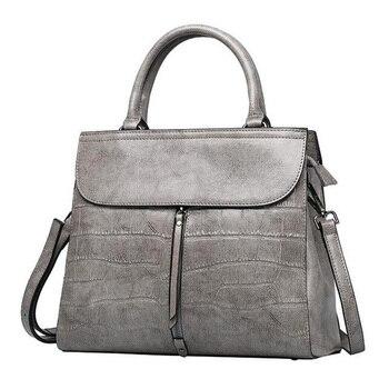 WILIAMGANU Stone Pattern Genuine Leather Bags For Women Shoulder Bags New Ladies Hand Bags Luxury Handbags Women Bags Designer
