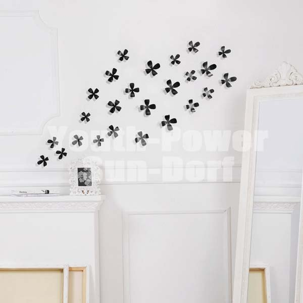 10pcs 3d wall sticker flower home decor decoration stickers (l