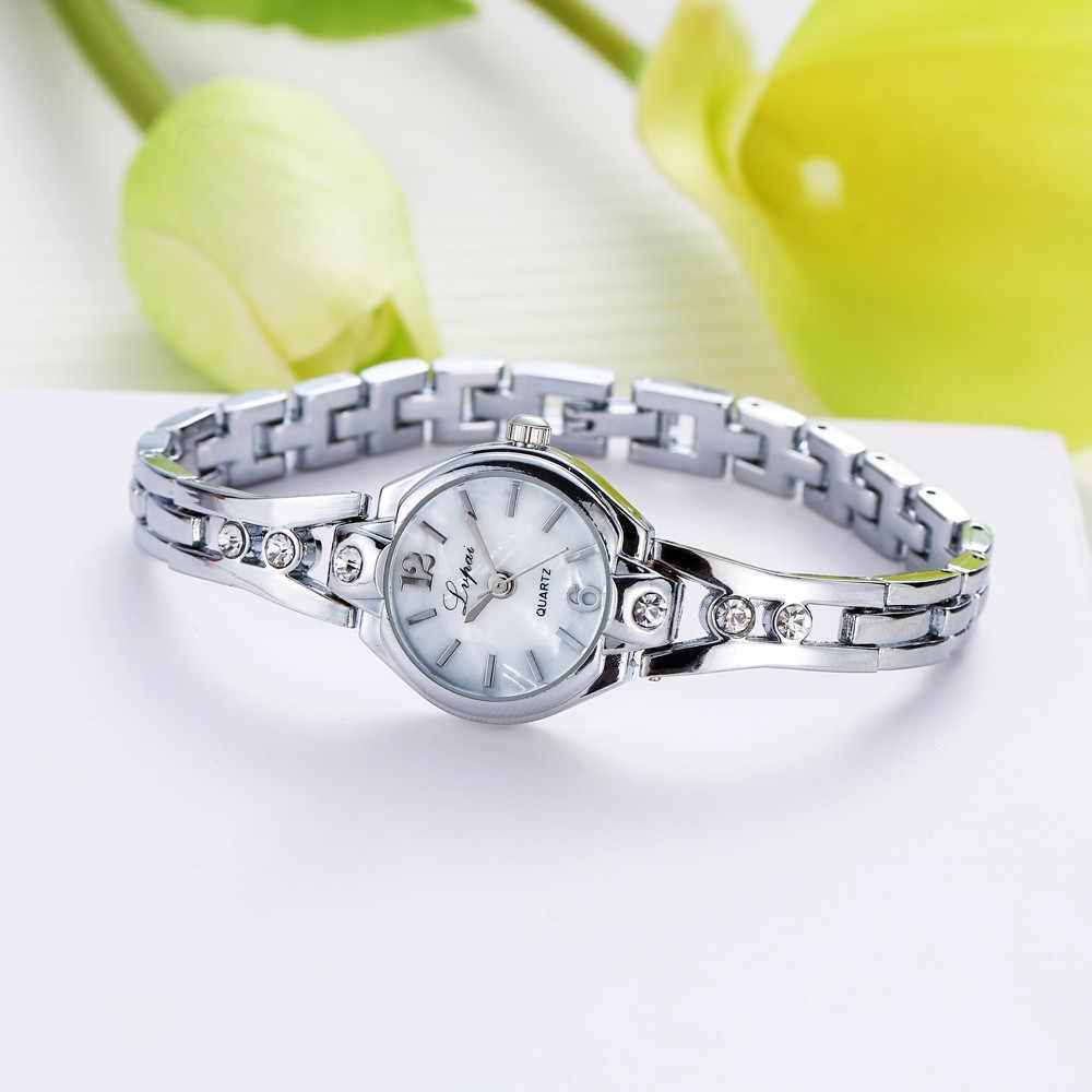 Reloj de pulsera Lvpai para mujer, reloj de pulsera de acero inoxidable con diamantes de imitación de cuarzo, reloj para regalo para mujer, relojes de pulsera #5/22