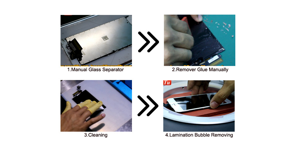 manual lcd separator , mini laminating machine , bubble remover all in one laminator for cracked lcd screen repair