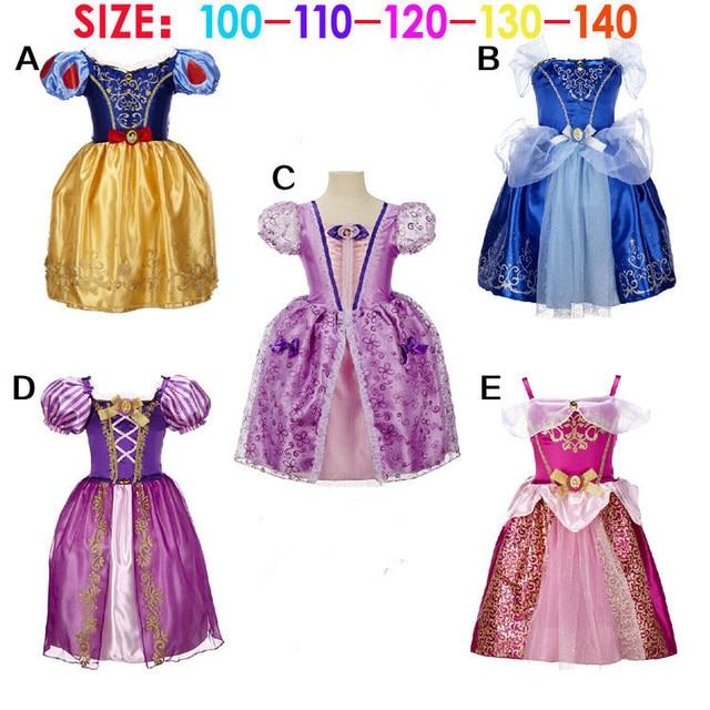 Venta caliente de La Muchacha de La Princesa Vestido Para la fiesta de boda de Encargo traje del niño del bebé niños Cenicienta Vestidos de Navidad de Halloween
