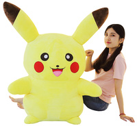 GGS NEW HOT SALE 65cm Pikachu glowing toy doll & tell story Animal Pikachu Plush toy dolls for baby kids Xmas brithday gift