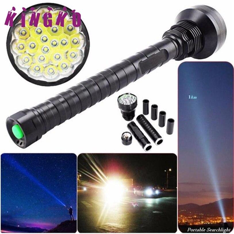 Kingko 28000LM CREE XM-L LED 21x T6 Super Flashlight Torch Lamp Light 5Mode 26650 18650 Flashlights l61215 DROP SHIP фонарик oem cree xm l t6 2000lm 5mode cree cree 3xaaa 1 x 18650 h9328