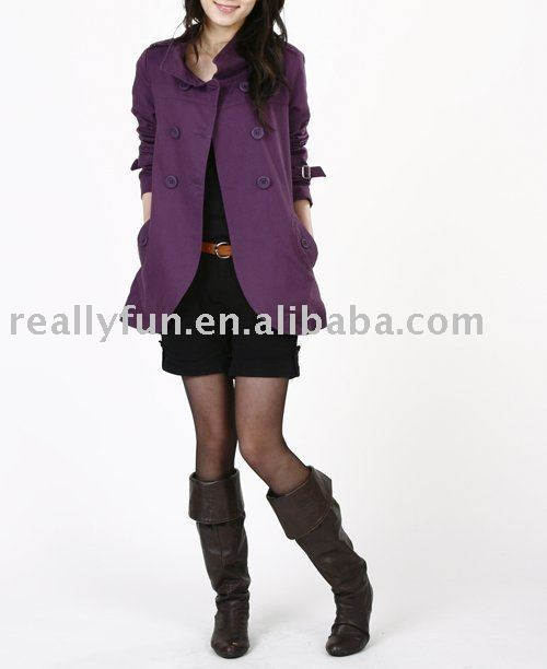 Free Shipping+Free Gift/ Hot Sale Women's Fashion Cotton Coat,Spring/Autumn Ladies' Coat