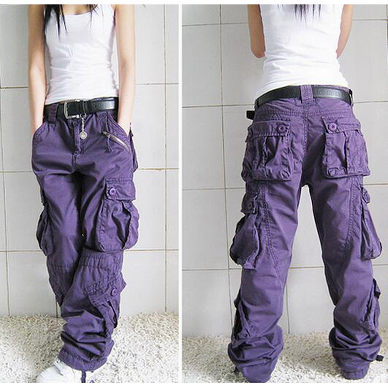 Male and Female Trousers Women Cargo Pants Mens Joggers Brands Hip Hop Harem Black Jeans Many Pockets Loose Pants Plus size