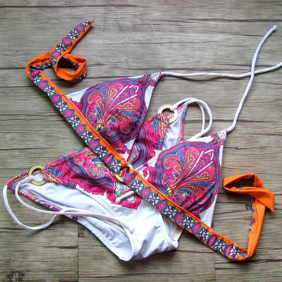 מעצב סוד נשים ביקיני 2020 סקסי בגדי ים ורוד הדפסת ביקיני בגד ים בציר שחייה חליפת נקבה בגד ים