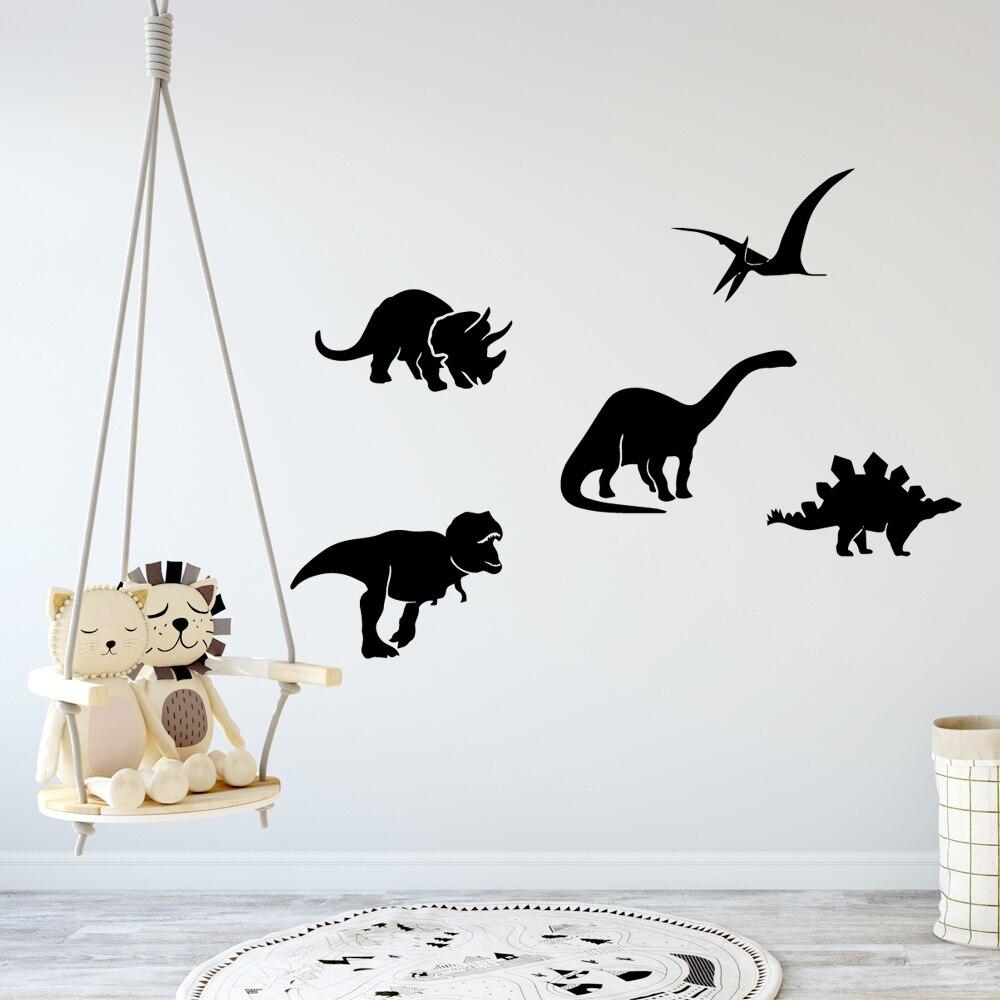 Fashion Animal Dinosaur Self Adhesive Vinyl Wallpaper Waterproof Wall Decals