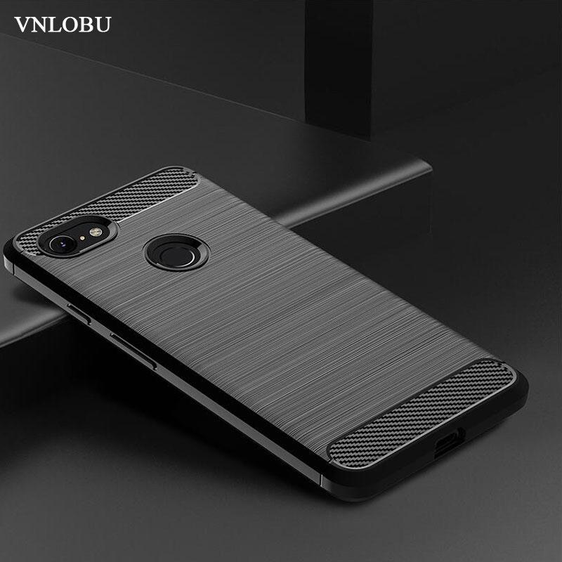 For Google Pixel 3A / 3A XL Case Shockproof Brushed Carbon Fiber Soft Bumper Case Cover For Pixel 2 2XL 3A 3XL Lite Phone Cases