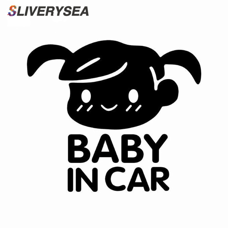 Image 2 - SLIVERYSEA BABY IN CAR Cool Rear Reflective Sunglasses Child Car Stickers Warning Decals Baby BOY Girl Car Styling Black/Silver-in Car Stickers from Automobiles & Motorcycles