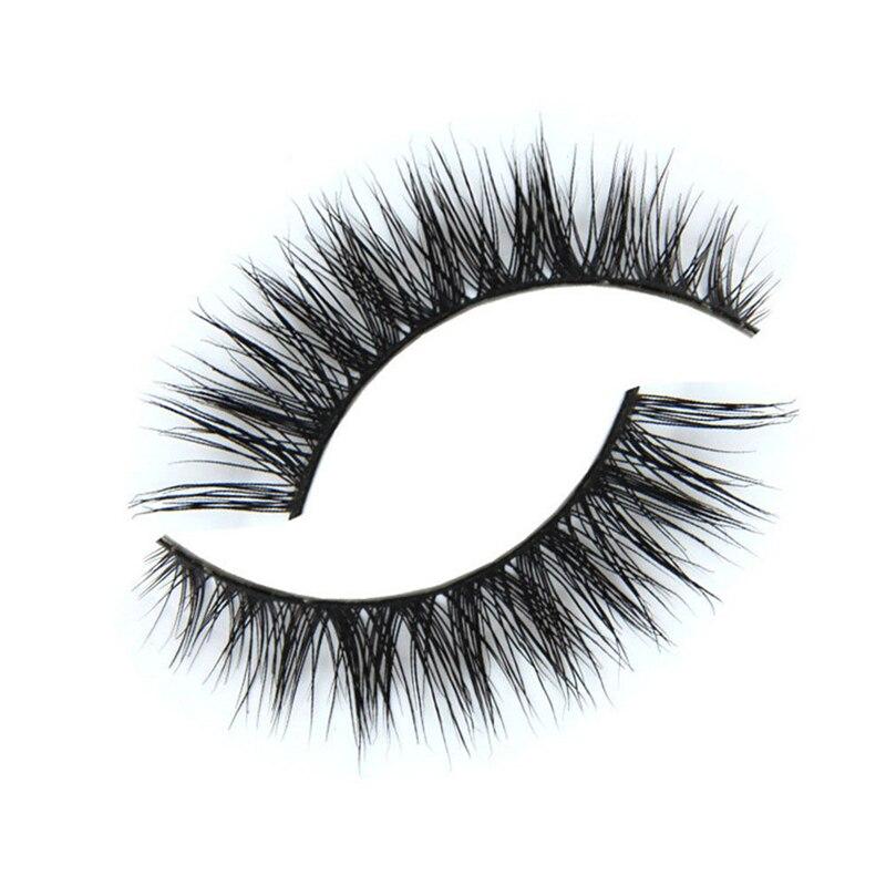 1 pair Women Thick Black False Eyelashes Makeup Tips 3d Mink Natural Makeup Long Fake Eye Lashes for beauty