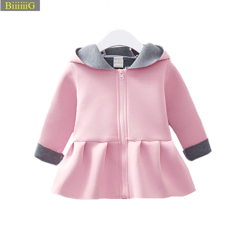Infant Spring Autumn font b Baby b font Girls Cute Jacket Tutu Ear Coat New Brands