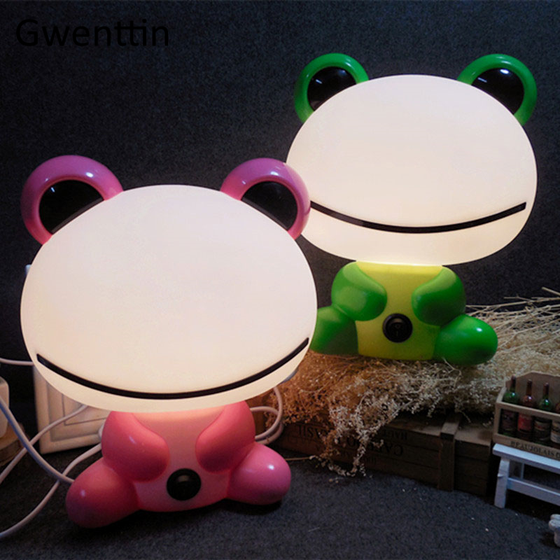 Modern Cartoon Frog Night Lights Led Animal Lamp For Children Kids Baby Bedroom Bedside Lamp Gifts Home Decor Luminaria Fixtures