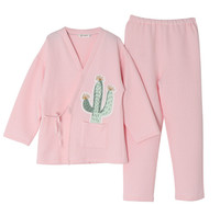 Maternity Nightgown Korean Cactus Print Cotton Pregnant Pajamas Sets Long Sleeves Top Pants 2pcs Breastfeeding Nursing Nightwear