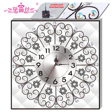 DaiNaSi Diamond Embroidery Wall Clock 5D DIY Diamond Painting Cross Stitch Flower Watch Diamond Mosaic Rhinestones DF-2756