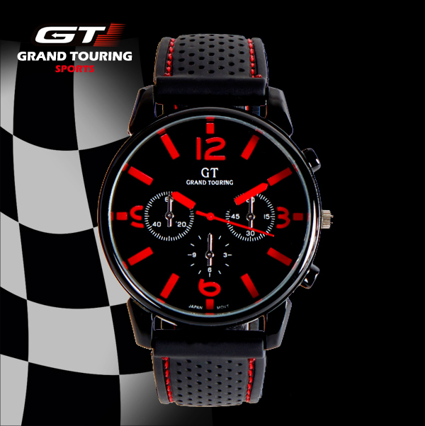 Car Racing Military Style Men Sports Watches Silicone Big Dial Man Wristwatches New Fashion Relogios Quartz Analog Simple Face