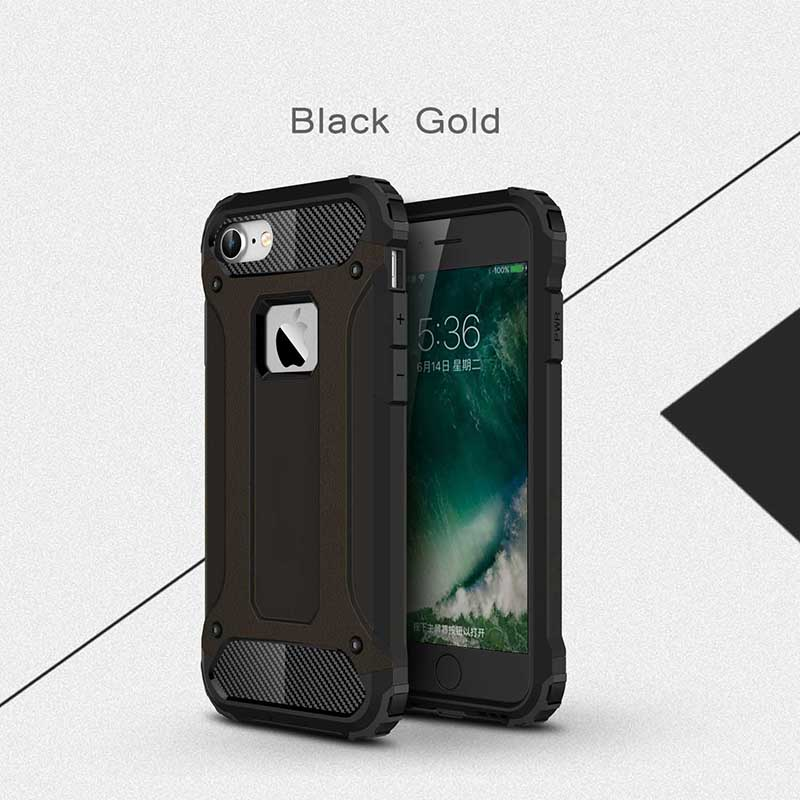 Silicone Luxury Shockproof Hard PC TPU Armor iPhone Case 5
