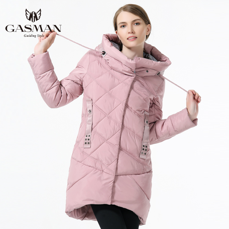 GASMAN 2018 Women Hooded Warm   Parka   Fashion Women Winter Thickening Down Jacket Hooded Warm Overcoat Women Brand Casual Jacket