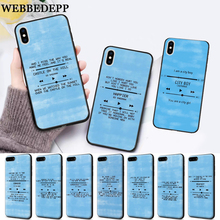 WEBBEDEPP Ed Sheeran Lyrics Pictures Diy Silicone soft Case for iPhone 5 SE 5S 6 6S Plus 7 8 11 Pro X XS Max XR цена 2017