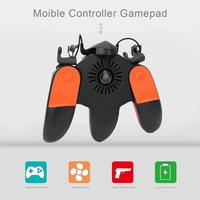 Moible Controller Free Fire Gaming Pad Gamepad L1 R1 Trigger Button Joystick Support Cooling For PUBG Accessary