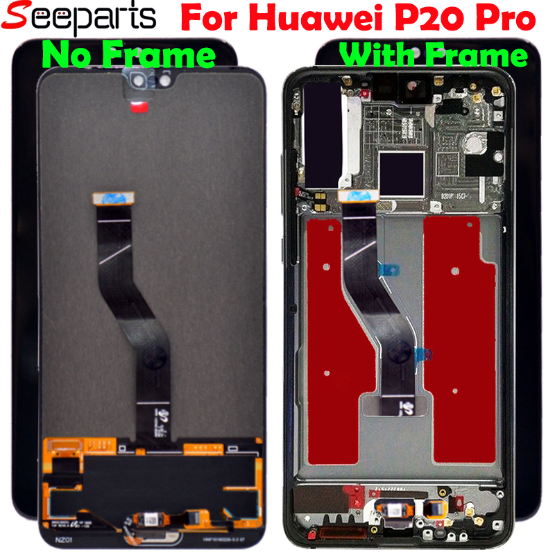 New For 6 1 Huawei P20 Pro LCD Screen Display Touch Panel Digitizer P20 Pro CLT