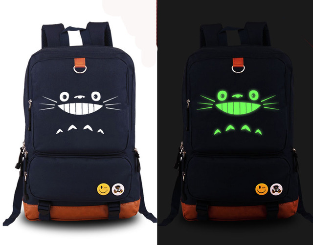 Cute Totoro Luminous Backpack
