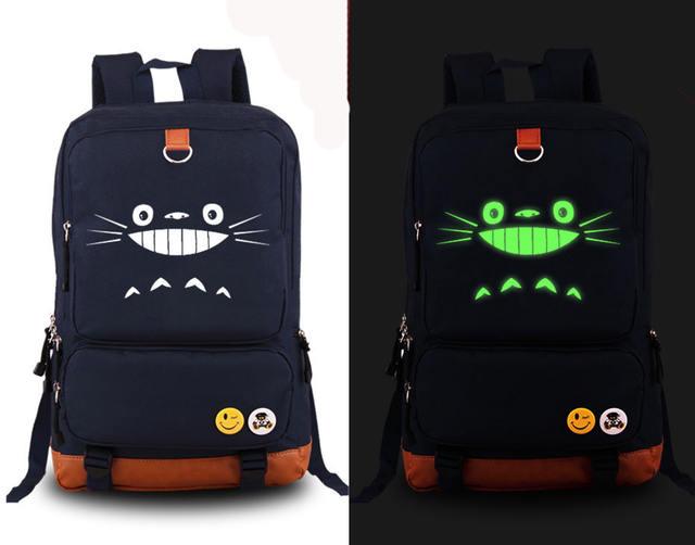 Cute Totoro Luminous Backpack