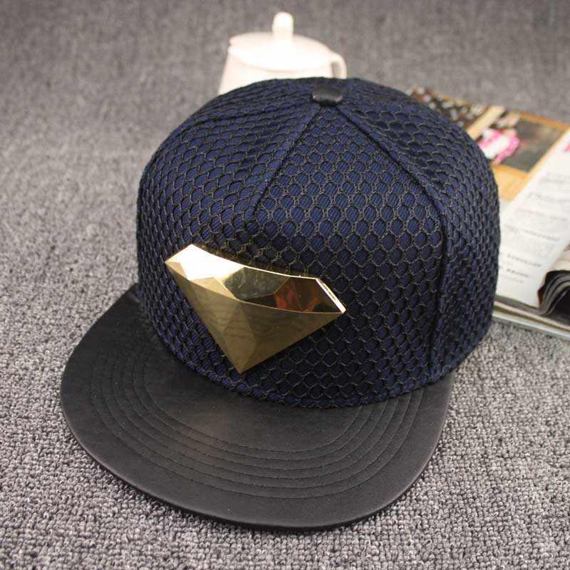 a3c4d116315 ... 2016 Europe diamond style Summer Mesh Baseball Cap Hat For Men Women  Teens Casual Bone Hip ...
