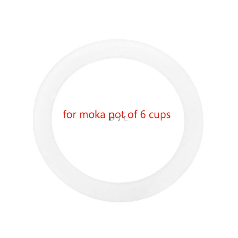 Silicone Seal Ring Flexible Washer Gasket Ring Replacenent For 6 Cups Moka Pot Espresso Kitchen Coffee Makers Accessories Parts
