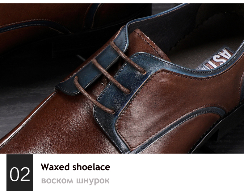 Men's Casual Shoe Business Mens Genuine Leather Shoes Men Big Size 45 Casual Leather Oxford Shoes For Men Lace Up Brogues Formal (8)