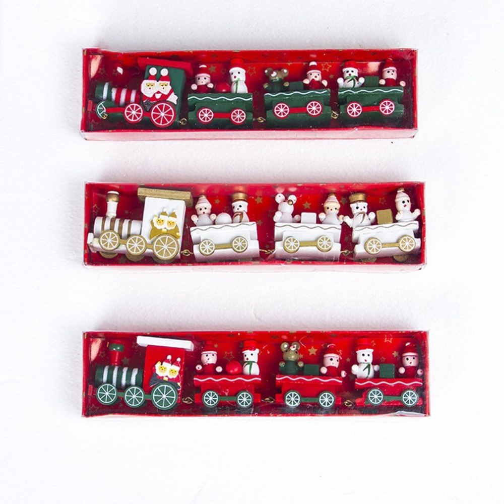 DUUTI Wooden Train Chrimas Decoration for Home mini Christmas train Model vehicle toys Gift chidlren New Arrival