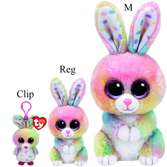 4919db79261 Pyoopeo Ty Beanie Boos Set of 3 Bubby Easter Multicolor Bunny Plush Stuffed  Animal Collection Doll Toy with Heart with Heart Tag