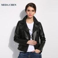 WINTER PALACE High Fashion Leather Jacket Women Short Paragraph Lapel Leather Turkey Imported Single Leather Jacket