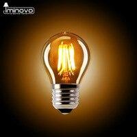 IMINOVO 10pcs LED Edison Bulb G45 E27 Dimmable Filament Retro Globe Lamp 110V 220V 2W Vintage