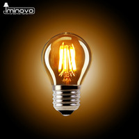 IMINOVO 10 pcs Edison Lâmpada LED G45 E27 Dimmable Filamento Retro globo Lâmpada 110 V 220 V 2 W Luz Interior Iluminação Sala de Estar Do Vintage quarto