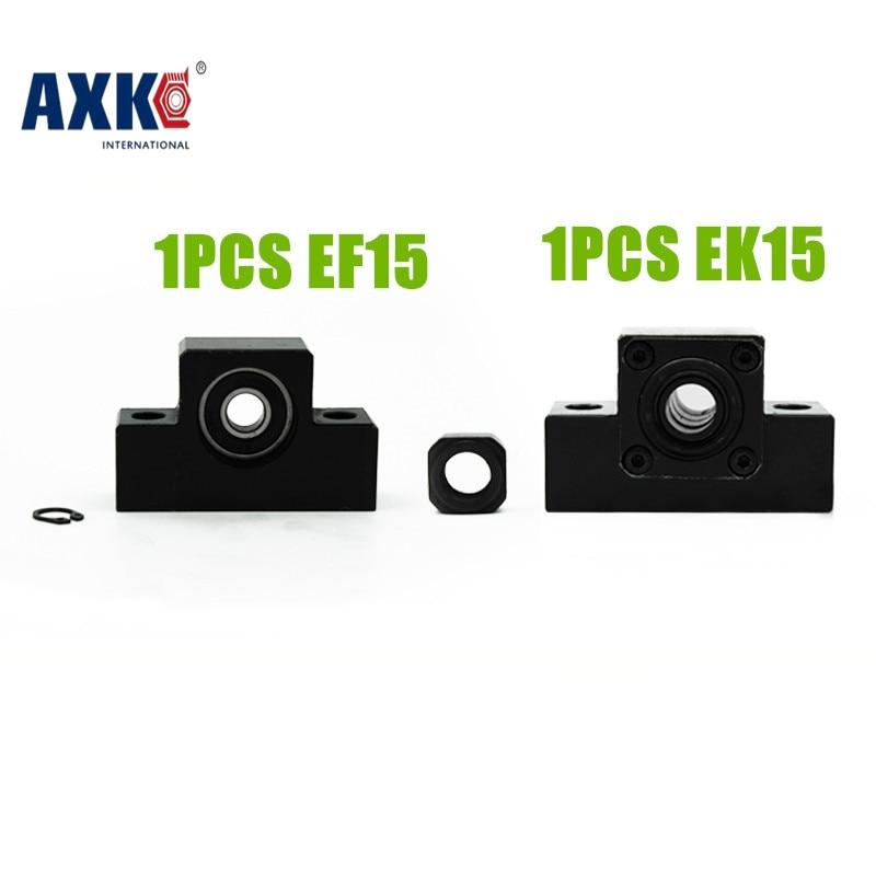 EK/EF15 end support unit  for SFU2004 SFU2005 SFS2010 ballscrew 1pc EK15 fixed side+1pc EF15 floated side ek15
